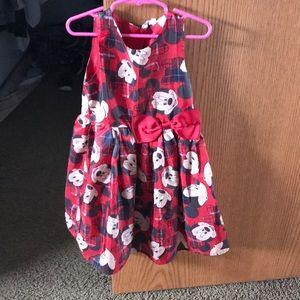 H&M Disney Minnie Mouse red dress 4-5 4t